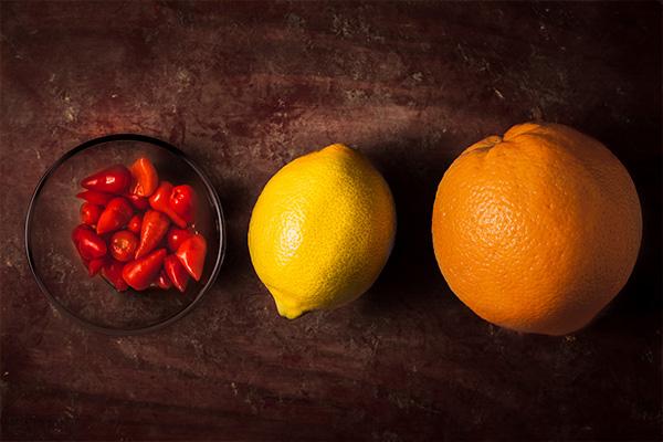 Het marinad till citruskyckling