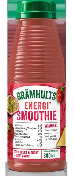 Smoothie Energi med smak av jordgubb och passionsfrukt
