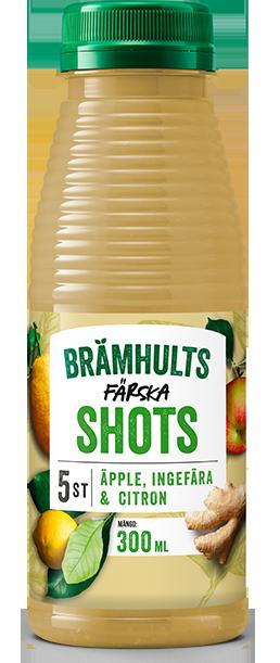 Shots med ingefära, äpple och citron